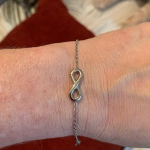 Stainless steel infinity bracelet/anklet NWT
